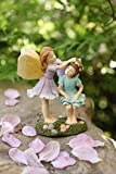 Miniature Fairy Garden Sisters 4 Inch Tall, Hand Painted Resin Figurines Accessories for Outdoor or Garden Decor Gifts