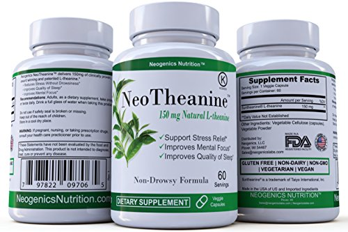 Sleep Naturally 30 Cap - 100% Pure Suntheanine® Patented L-Theanine 150mg | Premium Relaxation Support | Natural Anxiety & Stress Relief | Supports Focus and Better Sleep | 60 Hypoallergenic Veggie Caps