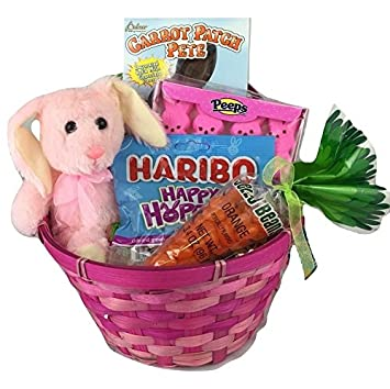 Amazon classic easter basket pink grocery gourmet food classic easter basket pink negle Image collections