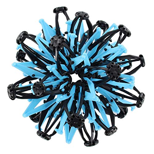 VIP Home Essentials Mini Sphere Toy Rings Stretch Expanding Ball Toys Funny for Kids - Blue Black