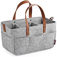 GAGAKU Baby Diaper Caddy Organizer - Baby Shower Basket Portable Nursery Storage Bin Car Storage Basket for Toys