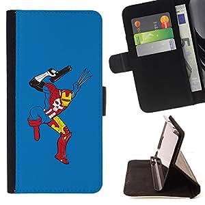 BullDog Case - FOR/LG Nexus 5 D820 D821 / - / Funny Superhero Combo Mix /- Monedero de cuero de la PU Llevar cubierta de la caja con el ID Credit Card Slots Flip funda de cuer