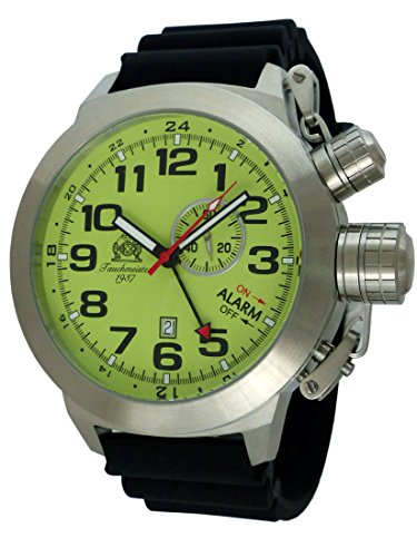 German bigsize Alarm and GMT Watch Swiss Movement Stainless Steel T0306PU