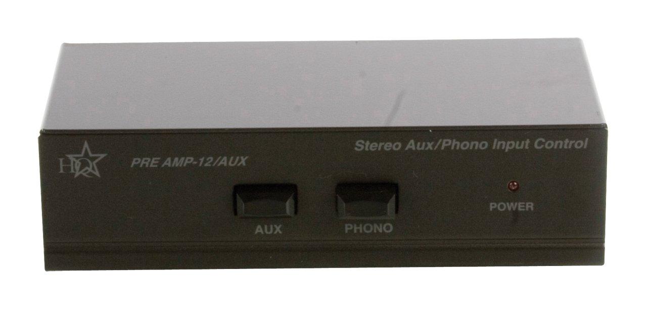 HQ Stereo Vorverst/ärker mit Schaltbarem Aux-Eingang