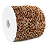 CleverDelights Curb Chain Spool - 3x5mm Link - Antique Copper Color - 330 Feet - Bulk Jewelry Chain Roll