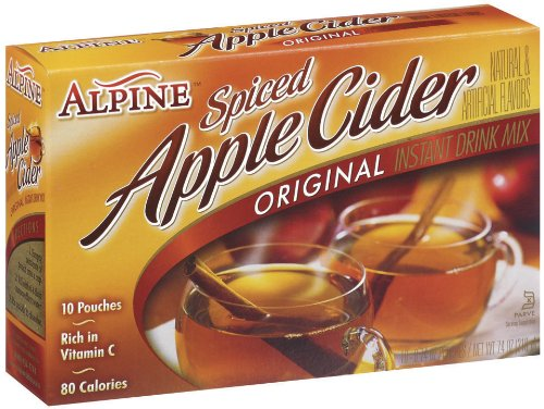 Ice Apple Cider - Alpine Spiced Cider Apple Flavor Drink Mix, 10-Count, 0.74-Ounce Pouches (Pack of 12)