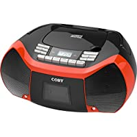 Coby CXCD-150-RED CD Cassette Radio (Red)
