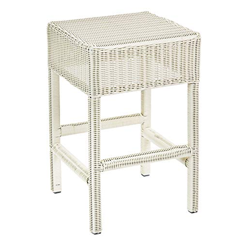 """BrylaneHome Roma 24"""" Counter Stool - White"""