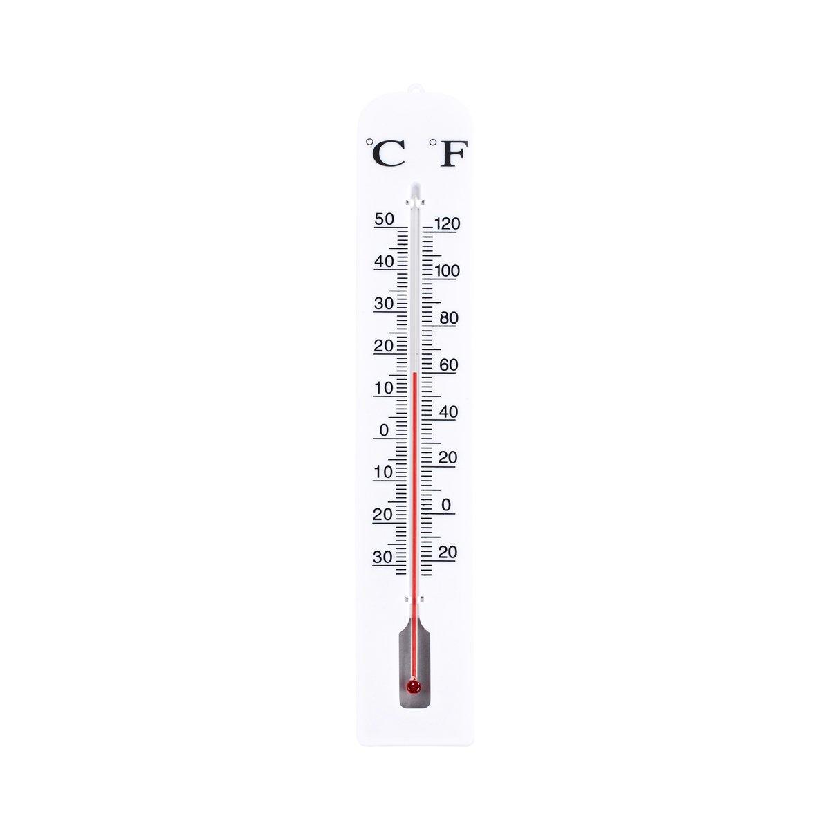 INNEN-AUSSEN-THERMOMETER ALUMINIUM 30 CM TFA 12.2045 GARTENTHERMOMETER ROSTFREI