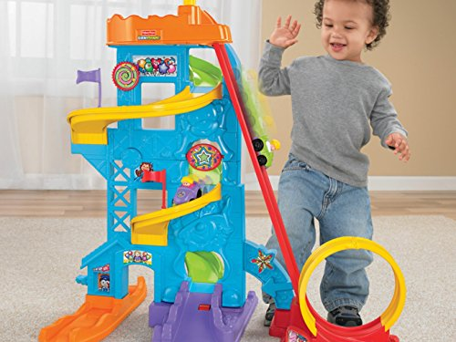 51zaEV1qqGL - Fisher-Price Little People Loops 'n Swoops Amusement Park [Amazon Exclusive]
