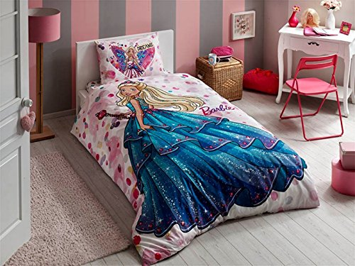 "Ls1 Race (Disney Barbie Dreams Duvet/Quilt Cover Set Single / Twin Size 63"" x 86""(160x220cm) Kids Bedding)"