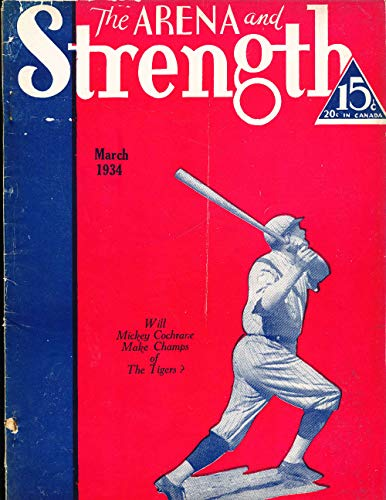 March 1934 Arena and Strength Magazine Babe Ruth picture for sale  Delivered anywhere in USA