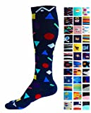 Compression Socks (1 pair) for Women & Men by A-Swift,Confetti,S/M