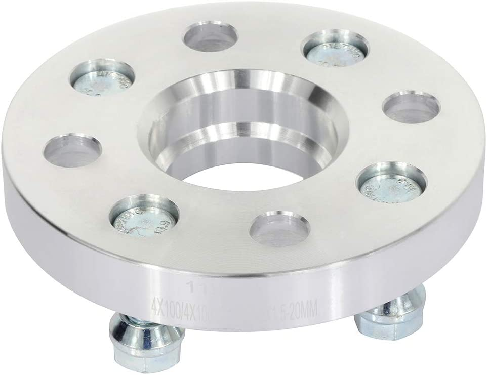 ECCPP 2pcs 4x100 20mm hubcentric Wheel Spacers 4 Lug 4x100mm to 4x100mm 12x1.5 Studs 54.1mm CB fits for Toy-OTA Prius for Toy-OTA MR2 for Toy-OTA Tercel