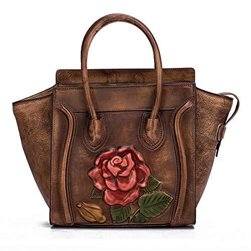 Ploekgda Brown color Tracolla Grande Borsa In A Brown Da Pelle Lavoro Donna zrw4xzPqT