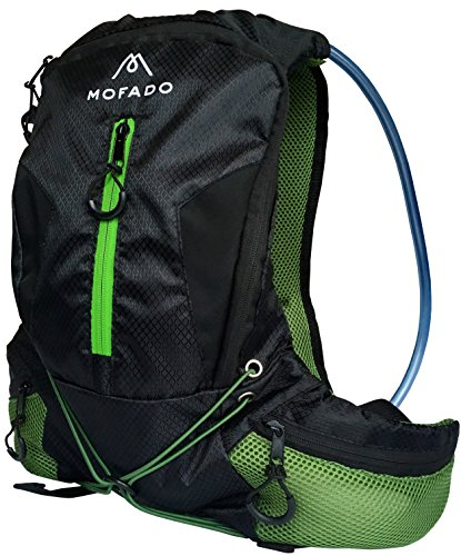 Premium Hydration Pack - 2L Water Bladder - Ultra Lightweight - Water Resistant Backpack - Perfect for Hiking, Biking, Running, Fishing