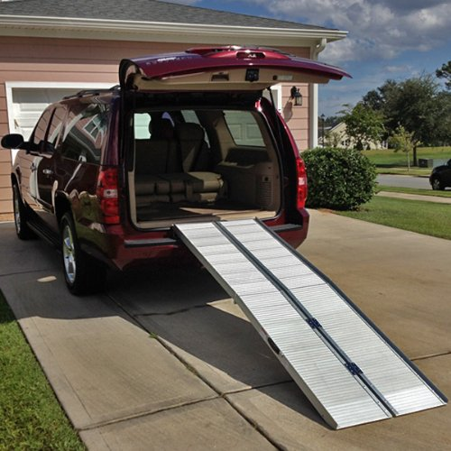 8' Mobility Wheelchair Scooter Multifold Portable Ramp