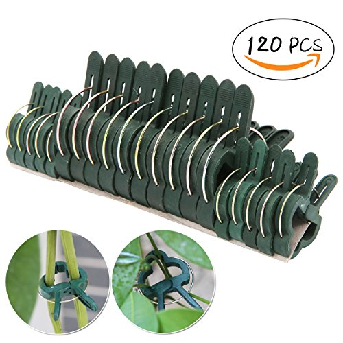 UniGift 120pcs (Small & Large) Plant Flower Clips-Garden Plant Support Staking Clips Garden Clips Supporting Stems-Vines Grow Upright by UniGift