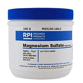 Magnesium Sulfate Heptahydrate, 100 Grams