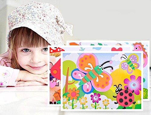 Vytung 24 Pcs Educational Preschool Diy 3d Eva Foam Art and Craft Painting Sticker Large Puzzle Kit Toys ()