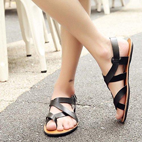 ZXCV Zapatos al aire libre Sandalias hombres playa zapatos jóvenes casual Cool zapatillas hombres moda marea zapatos Negro