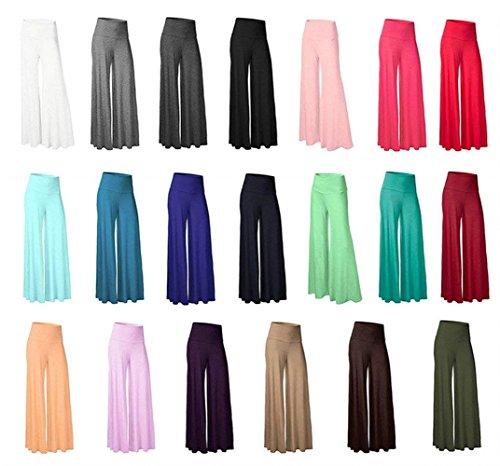 Gonna Donna Colori Waist High Solidi Baggy Lungo Eleganti Pantalone Yoga Pantaloni Accogliente Libero Grazioso Tempo Pantaloni Palazzo Pantalone Khaki Larghi Moda rI5qr