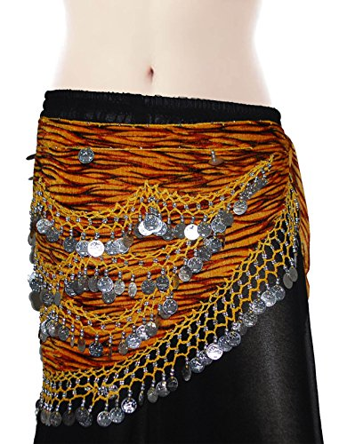 Wevez Classic Egyptian Belly Dance Hip Scarves for Professional Dancers