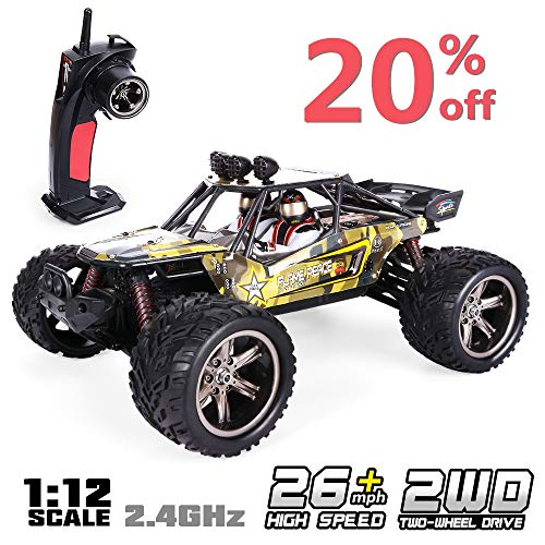 (GPTOYS RC Car 38km/h Remote Control Truck Crawler Off-Road Monster 1:12 2.4 GHz 2WD S916 (Update)
