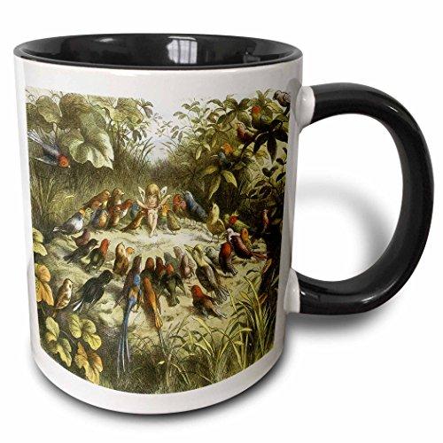 Fairy Fine Art - 3dRose BLN Fairies Fine Art Collection - In Fairyland Rehearsal in Fairyland Richard Doyle, 1870 Fantasy Fairy Painting - 15oz Two-Tone Black Mug (mug_126235_9)