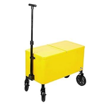 HIO Yellow Plastic 60 Quart Outdoor Patio Cooler Cart