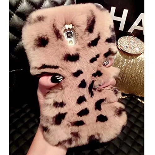 Fuzzy Beaver (Case for Moto X Style, Super Deluxe Luxury Faux Rabbit Fur Fuzzy Plush Beaver Rex Rabbit Hair Case for Motorola Moto X Pure Edition/ Moto X Style(Bowknot Brown Leopard))