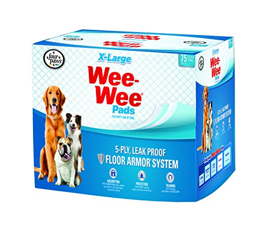 Four Paws Wee-Wee Extra Large Puppy Pads, 75 Ct by Four Paws