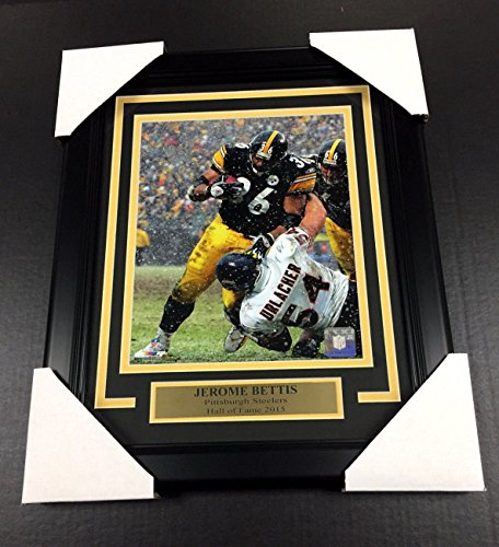 (JEROME BETTIS SNOW GAME HOF PITTSBURGH STEELERS 8X10 UNSIGNED Photo Framed)