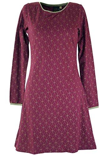 Bekleidung Flower Kurze Minikleid of Alternative Organic Kleid Baumwolle Shop Damen Life Kleider Bordeaux Guru Boho vqOgInwX