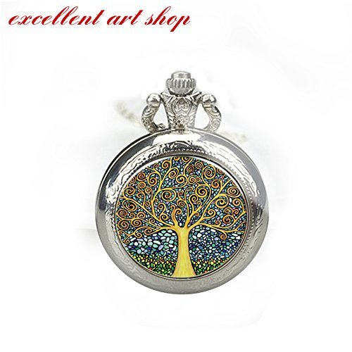 (Personalized Handmade Antique Bronze / Silver Photo Pocket Watch Pendant / Charm)