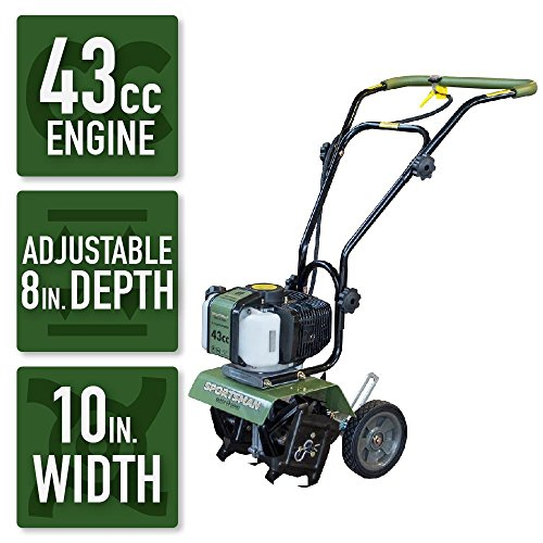 - Sportsman Earth Series 10 in. 43cc 2-Cycle Gas Powered Mini Cultivator