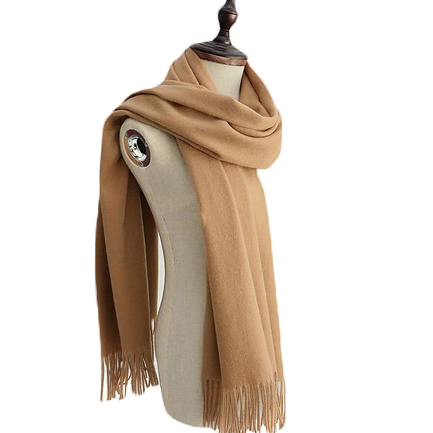 XHSP 100% Cashmere Women Autumn Winter Long Scarf Fashion Fringed Scarves