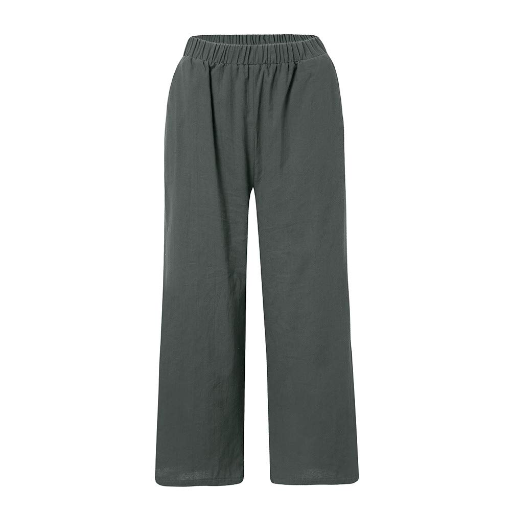 8a270ca174ac5d Amazon.com: Newkelly Womens Ladies Casual Flax Cotton and Linen Loose Wide  Leg Pants: Baby