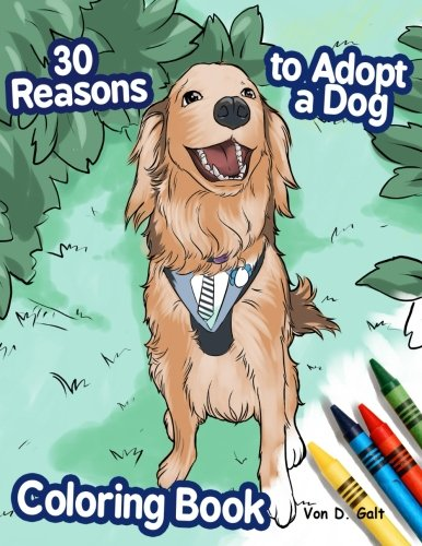 30 Reasons to Adopt a Dog Coloring Book PDF