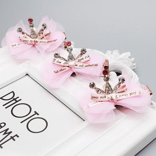 - Quantity 1x Special_ Korean children Hair Girls Pink _bubblegum_ Crown Tiara Party Wedding Headband Women Bridal Princess Birthday Girl Gift Hair clip hairpin barrette Girl baby head flower pearl Head