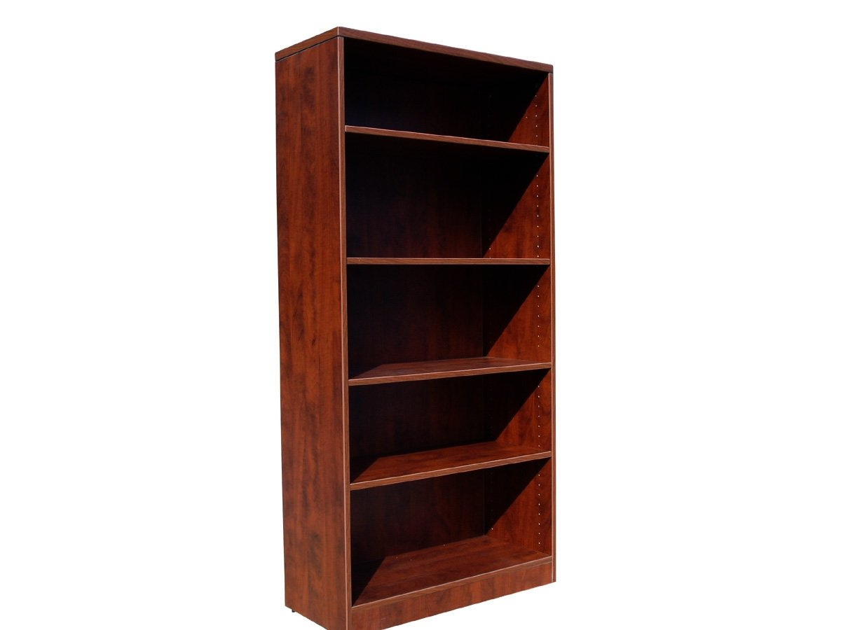 Boss 31W by 14 D by 65-1/2 H Bookcase, Mahogany
