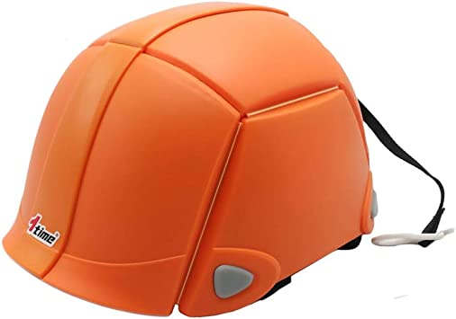 Foldable Hardhats Safety Helmet Bloom Outdoors Workplace Earthquake Collapsible Helmet Offices Public Facilities of Disaster Construction Hardhats Helmet ORANGE