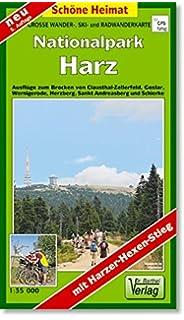 grosse wanderkarte ski und radwanderkarte nationalpark harz ausfluge zum brocken von clausthal