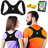 Back Posture Corrector for Women and Men - Upper Back Brace Clavicle Support Device for Thoracic Kyphosis and Shoulder - Neck Pain Relief (Regular)