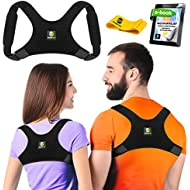 Back Posture Corrector for Women and Men - Shoulder Brace Back Posture Corrector - Upper Back Support - Back Straightener Posture Corrector - Resistance Band Included (Regular)