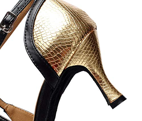 zapatos Moderno Our43 Rojoheeled10cm Baile Salsa Goldheeled10cm samba Para De uk7 Té Altos Tacones Pu Mujer Eeayyygch Salsa Eu42 Jazz 5 Zapatos Sandalias tango Latina W7CBxwqUOf