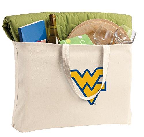 JUMBO West Virginia University Tote Bag or Large Canvas WVU Shopping - West University Shopping