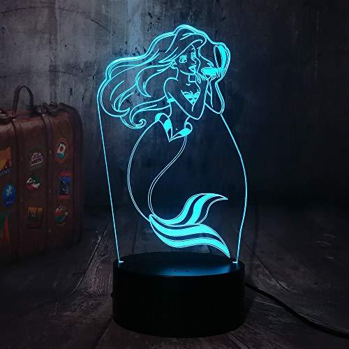 Tianyifengg LED Nachtlicht-3D Vision-Sieben Farben-Fernbedienung-Kinder Tag Geschenk Kleine Prinzessin Wird Baby…