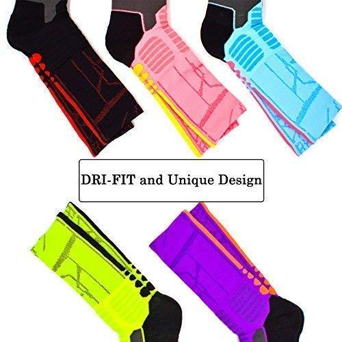 a50b77bee045b Finders   JIYE Elite Basketball Socks 5 Pack Dri-Fit Athletic Crew ...