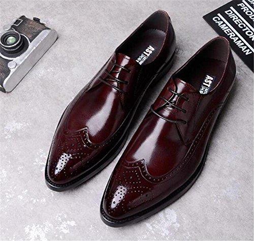 Tamaño Eu38 Zapatos A Irlandés Vestir 38 Swnx Boda Acento De 45 Piel eu39 Brown Hombre Cordones Formal Negocio Genuina Hqwaxq